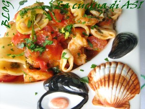 Pasta calamari mazzancolle La cucina di ASI