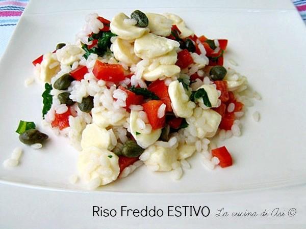 RISO FREDDO ESTIVO Ricetta primo piatto semplice