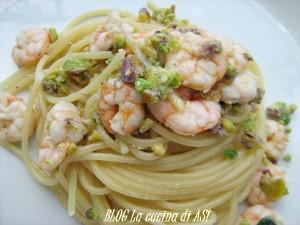 Spaghetti pistacchi gamberetti