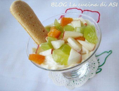 TIRAMISU' ALLA FRUTTA Ricetta dolce al cucchiaio
