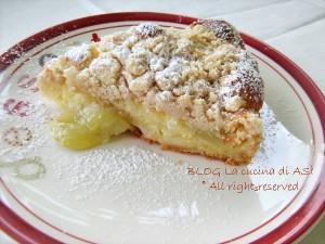 torta con uva e mele