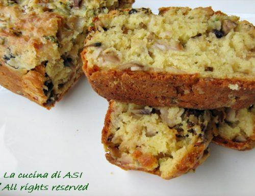 CAKE SALATO CON FUNGHI E PROSCIUTTO Ricetta torta salata