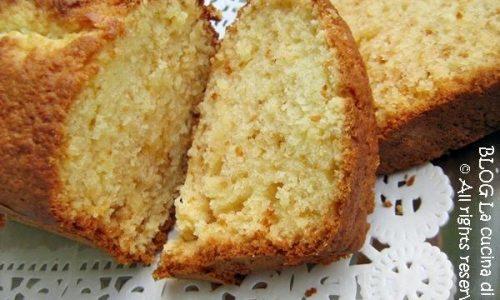 CAKE COCCO E LIMONE Ricetta dolce con fruttosio