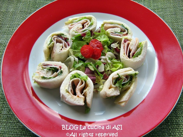 antipasto di tacchino e insalata La cucina di ASI