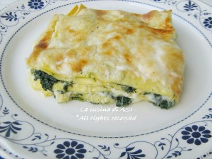 lasagne in bianco La cucina di ASI