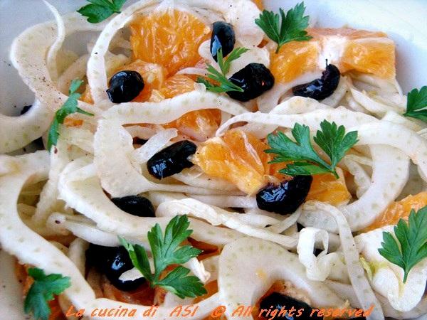 Insalata arance finocchi e olive