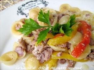 Orecchiette peperoni e salsiccia La cucina di ASI