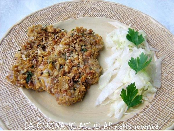 cotolette al forno con noci cornflakes parmigiano prezzemolo La cucina di ASI