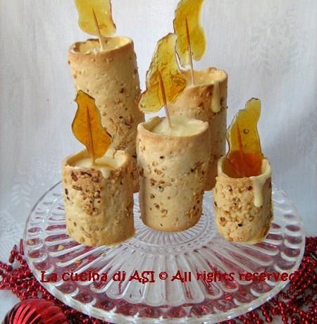 CANDELE DI FROLLA CON CREMA E CARAMELLO Ricetta dolce