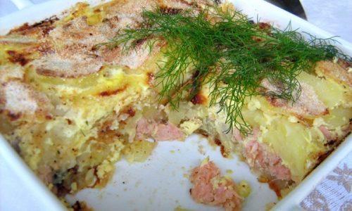 LAX PUDDING Ricetta  svedese con il salmone
