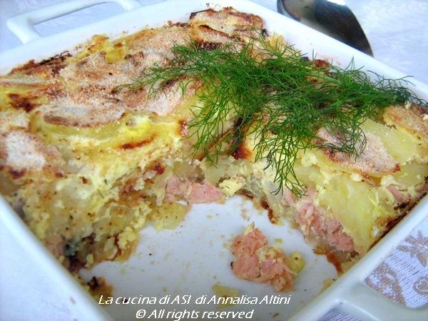 lax pudding salmone panna cipolle La cucina di ASI di Annalisa Altini
