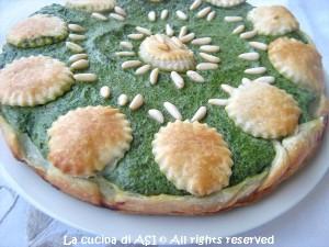 torta salata con spinaci ricotta parmigiano pinoli La cucina di ASI
