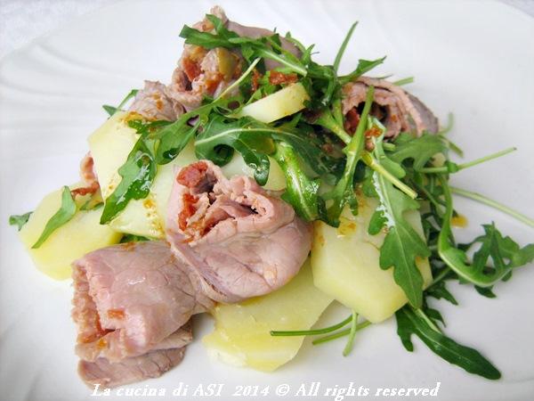 insalata di rucola patate roast beef La cucina di ASI