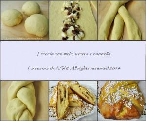 LIEVITATO DOLCE Treccia mele uvetta e cannella La cucina di ASI