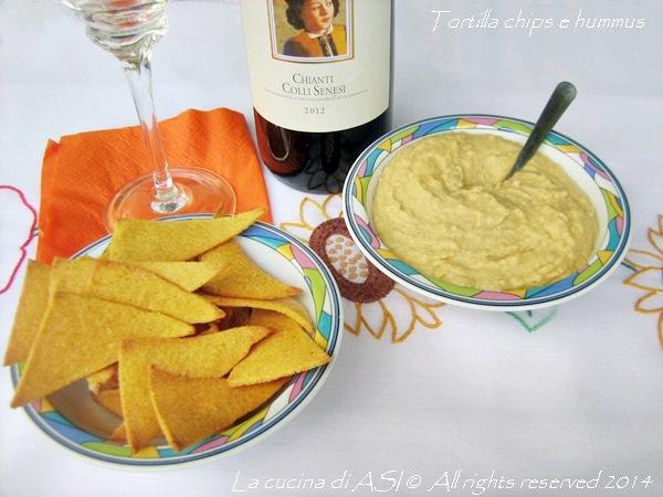 tortilla chips e hummus La cucina di ASI