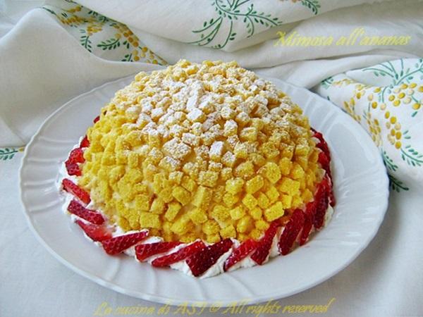 Torta mimosa all' ananas