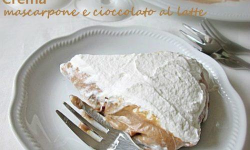 CREMA AL MASCARPONE E CIOCCOLATO AL LATTE Ricetta dolce al cucchiaio