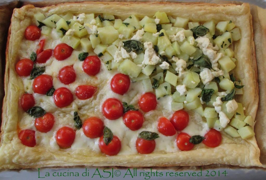 torta salata pomodorini patate basilico La cucina di ASI