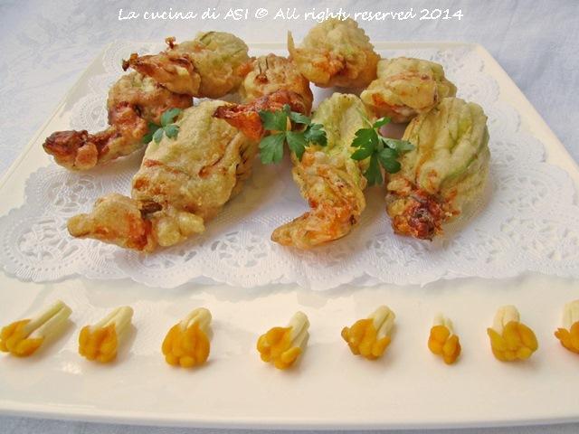 Fiori di zucca acciughe e mozzarella La cucina di ASI
