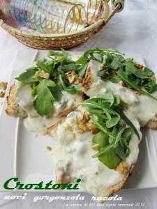 crostoni stracchino noci gorgonzola La cucina di ASI