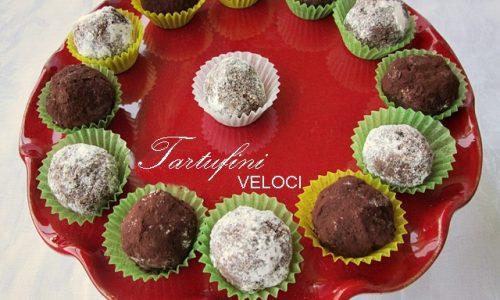 TARTUFINI VELOCI Ricetta dolce finger food