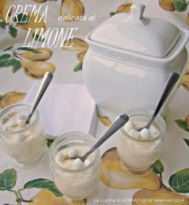 la crema delicata al  limone La cucina di ASI