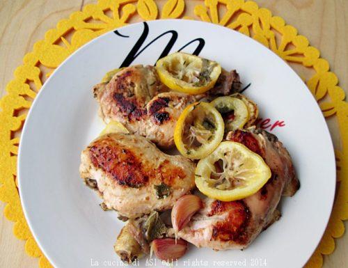 POLLO CON TIMO E LIMONE Ricetta secondo piatto di carne