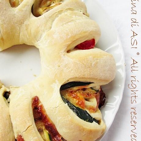 CORONA DI PIZZA FARCITA Ricetta lievitato salato