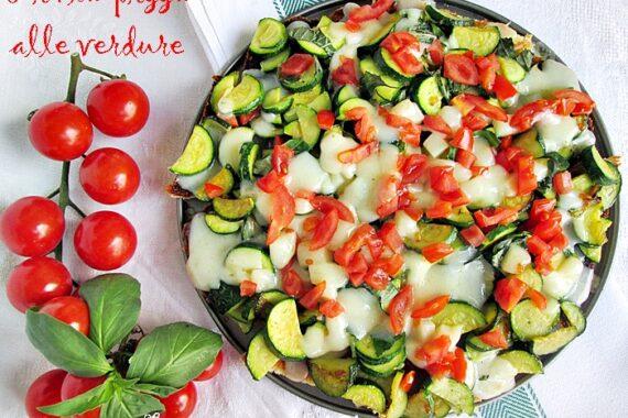 FINTA PIZZA ALLE VERDURE Ricetta salata