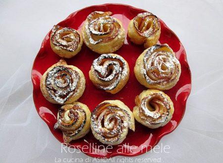 ROSELLINE ALLE MELE Ricetta dolce piccola pasticceria