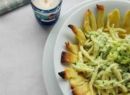 Cestini di trofie zucchine e pesto Ricetta primo piatto