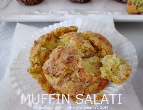 MUFFIN SALATI con speck e pistacchi Ricetta salata