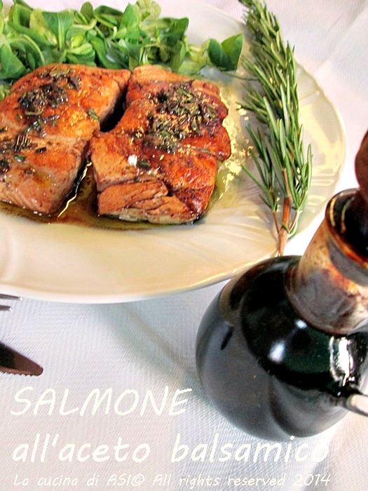 il balsamico e salmone La cucina di ASI
