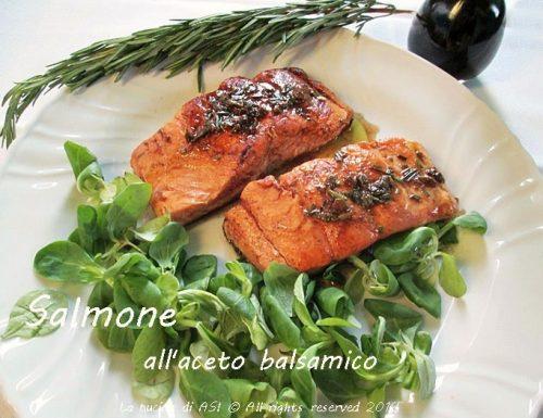SALMONE ALL'ACETO BALSAMICO Ricetta secondo piatto di pesce