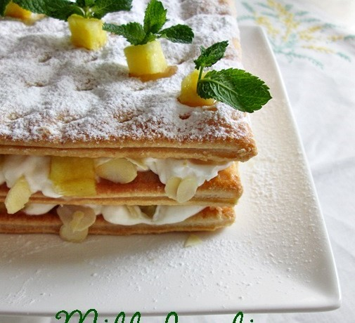 MILLEFOGLIE  ANANAS E MANDORLE Ricetta dolce