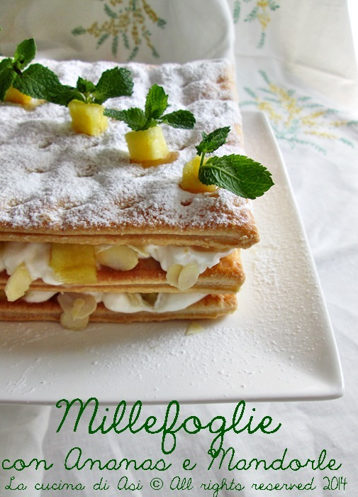 millefoglie mandorle ananas La cucina di ASI 2014