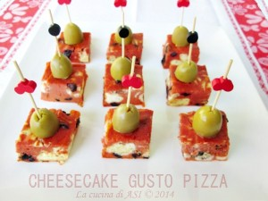 CHEESECAKE AL GUSTO PIZZA La cucina di ASI 2014