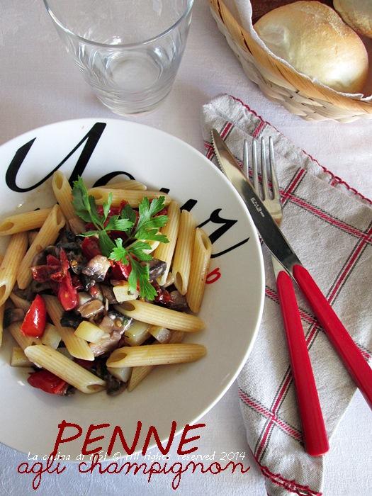 penne champignon La cucina di ASI 2014