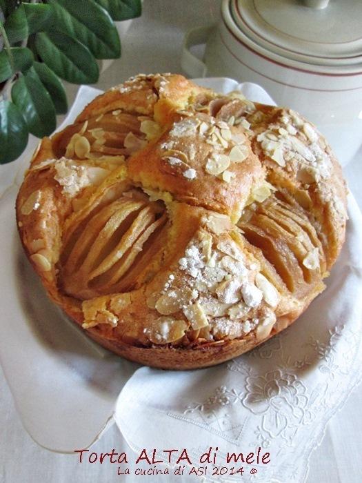 Torta alta di mele ricetta preparazione dolce alla frutta for Alta cucina ricette