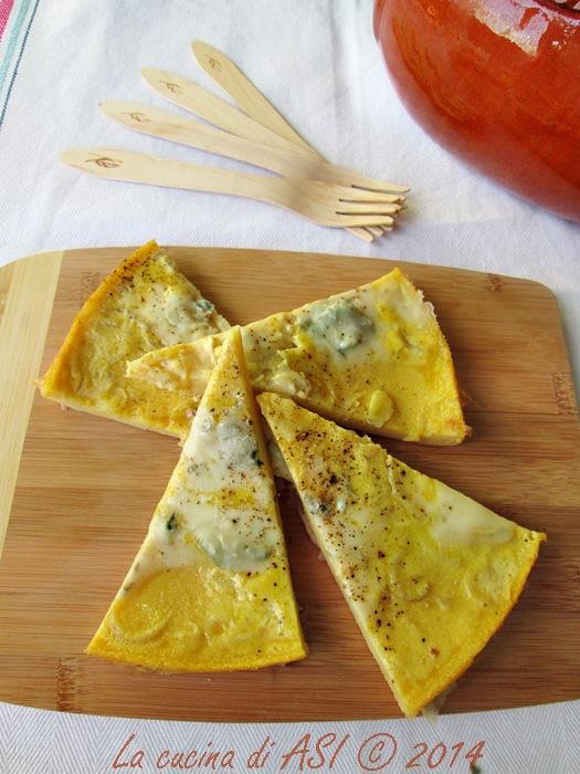 Cecina scalogni e gorgonzola La cucina di ASI © 2014