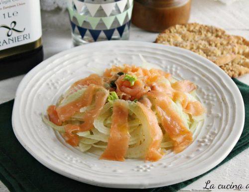 Salmone finocchio capperi-Ricetta antipasto veloce