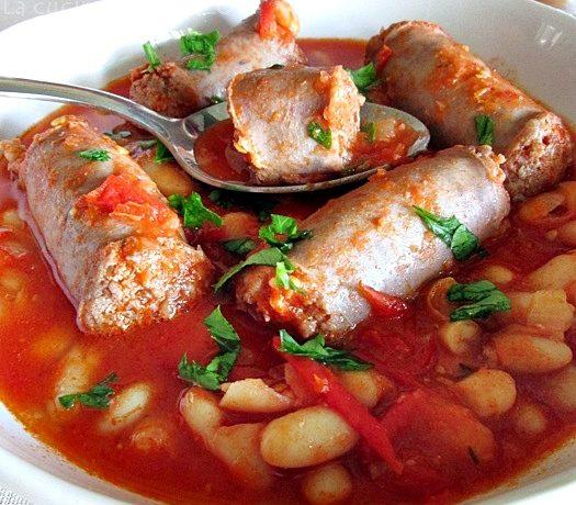 CANNELLINI ALL'UCCELLETTO CON SALSICCE Ricetta secondo piatto di carne