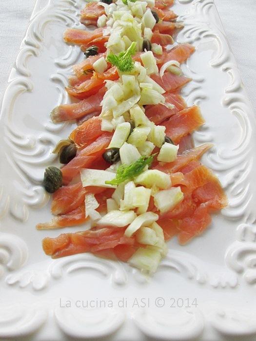 salmone finocchi capperi La cucina di ASI © 2014
