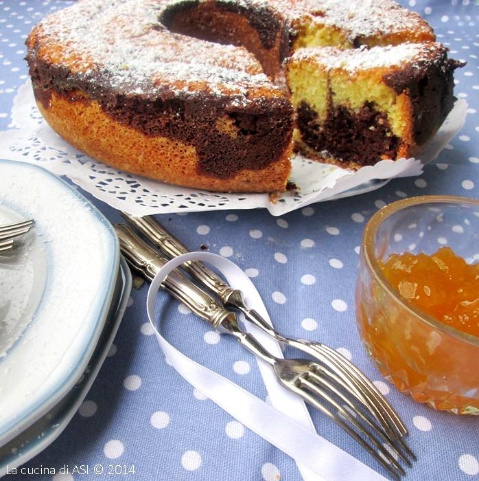 torta-marmorizzata-ciocco-e-pesche-La-cucina-di-ASI-©-2014 BLOG