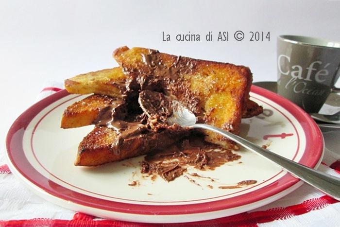 pain perdu cioccolato pane cioccolato la cucina di asi. Black Bedroom Furniture Sets. Home Design Ideas