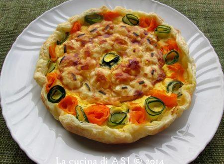 TORTA SALATA CON CAROTE, ZUCCHINE E CREMA DI FORMAGGI Ricetta salata
