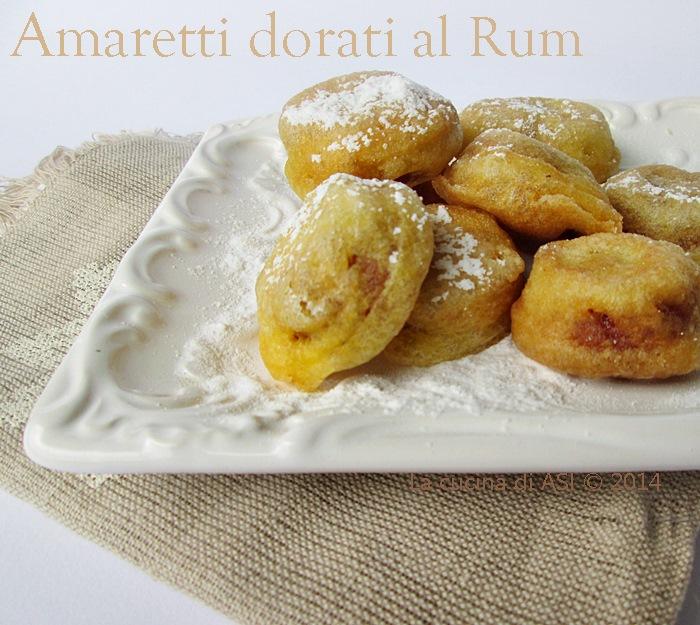 gli amaretti dorati al rum La cucina di ASI © 2014