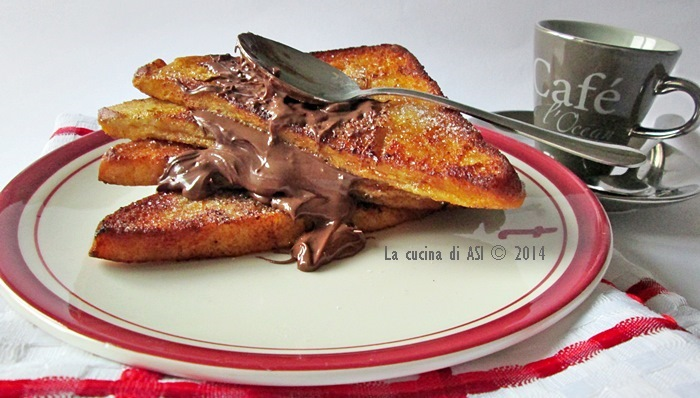 pain perdu alla Nutella La cucina di ASI © 2014