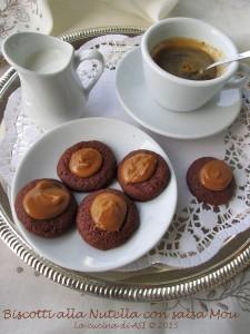 BISCOTTI Nutella con salsa Mou La cucina di ASI © 2015