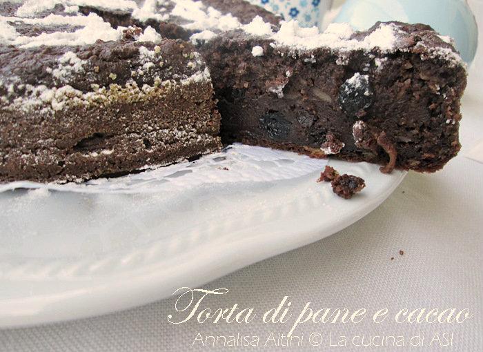 LA Torta di pane raffermo cacao La cucina di ASI © 2015